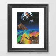 Under The Pyramids Framed Art Print