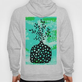 Plant in vase with dots Hoody