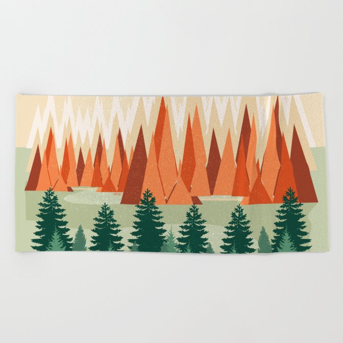 Lets Get Lost Together Beach Towel