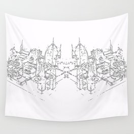 city structure Wall Tapestry