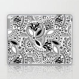 Black and white polka dot pattern . Laptop & iPad Skin
