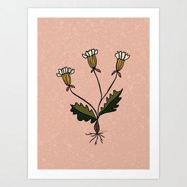 Botanic flower Art Print