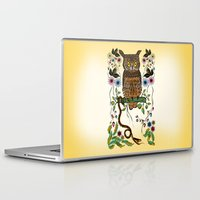 andreas preis Laptop & iPad Skins featuring Vibrant Jungle Owl and Snake by famenxt