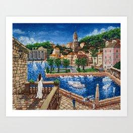 Port of Hvar, Croatia Art Print
