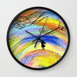 Jellyfish dream Wall Clock
