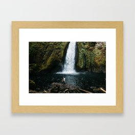 Waterfall Wanderers Framed Art Print