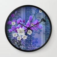 hummingbird Wall Clocks featuring Hummingbird by Sabah