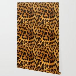 Faux Leopard Skin Pattern Wallpaper