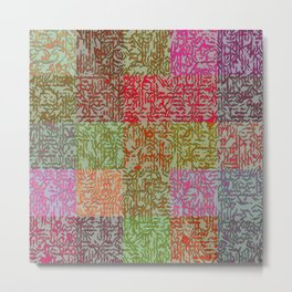 Puzzled Patchwork Metal Print