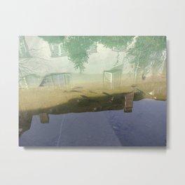 Still water relfection in Colmar Metal Print