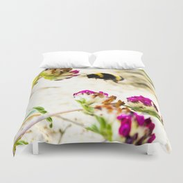 the flight of bumble bee on the dunes I Duvet Cover