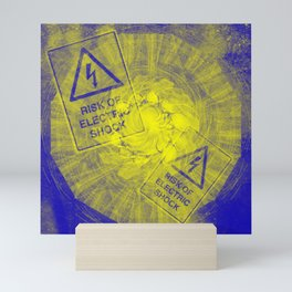 Abstract risk of electric shock Mini Art Print