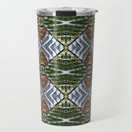 Royal Poinciana Fronds Diamond OP Pattern Travel Mug