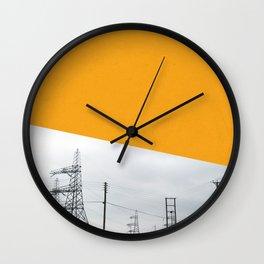 Orange Pylons Wall Clock