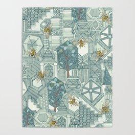 hexagon city Poster
