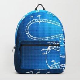 Baseball Patent Blueprint Drawing Backpack