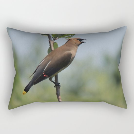 Cedar Waxwing at Hillsboro Pond Rectangular Pillow