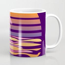 Retro striped sun and palm Coffee Mug