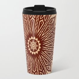 ozorahmi wood mandala Travel Mug