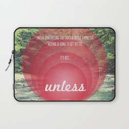 Unless | Red Laptop Sleeve