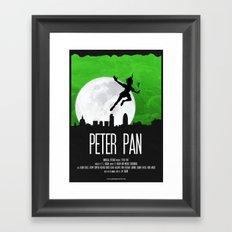 PETER PAN GREEN Framed Art Print