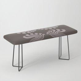 Art Nouveau Paisley Bench
