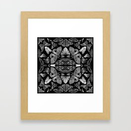Moth Formations Framed Art Print