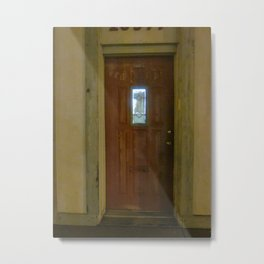 Alone With My Red Door Metal Print