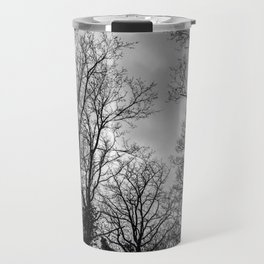 Black and white haunting trees Travel Mug
