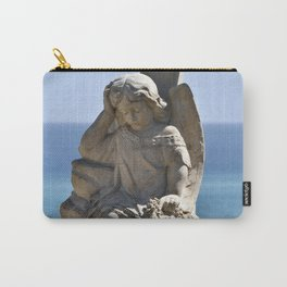 Angel and Cross on the Isle of Sicily Carry-All Pouch