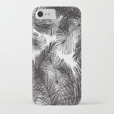 Black white watercolor hand painted palm trees  iPhone 7 Slim Case