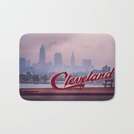 Homesick - Cleveland Skyline Bath Mat