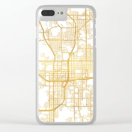 ORLANDO FLORIDA CITY STREET MAP ART Clear iPhone Case