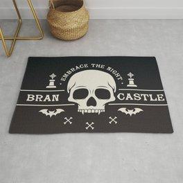 Gamer Geeky Chic Castlevania Inspired Bran Castle Transylvania Vampire Night Rug