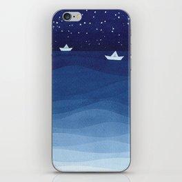 Paper boats illustration iPhone Skin