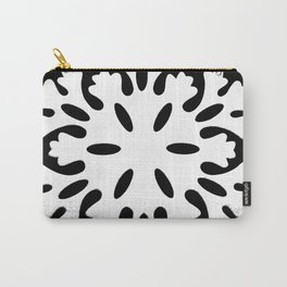 Black and White Snowflake Carry-All Pouch