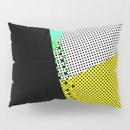 Pop time geometric abstract black dots Pillow Sham