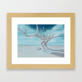 Going with the wind Framed Art Print