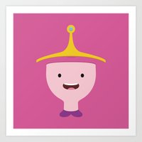 princess bubblegum Art Prints featuring Princess Bubblegum by dudsbessa