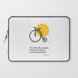 Life is like riding a bicycle Laptop Sleeve