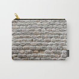 Close up view of the textured stone wall of a historical building Carry-All Pouch