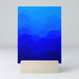 Blue Waves Mini Art Print