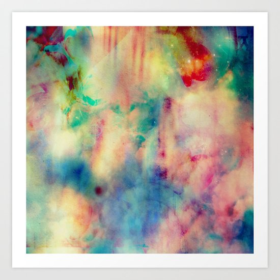 Fume Color Splash 06 Art Print