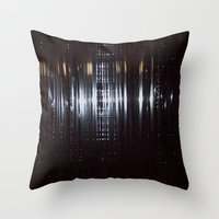 tape Throw Pillows featuring Tape by Brandon Lynch