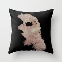 in the flesh Throw Pillows featuring Flesh by Vezper Art