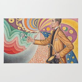 Paul Signac - Pointillist Portrait of Félix Fénéon Rug