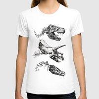 trex T-shirts featuring Jurassic Bloom - Black version. by Sinpiggyhead