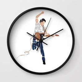 Typography Art of Boss of the Rock Bruce Frederick Springsteen Wall Clock