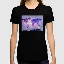 world map galaxy T-shirt