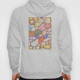 Friendly Colorful Pebbles Pattern Hoody